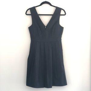 J. Crew pleated piqué dress